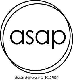 ASAP stamp on white background