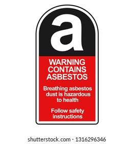 Asbestos warning sticker. Clipart image isolated on white background