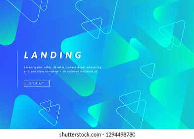 Asbtract background design. Landing page template. Eps10 vector.