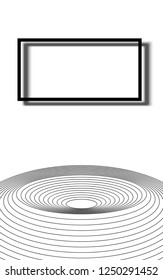 asbtraction rectangle and circles on a white background frame vector