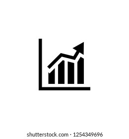 ascendant bars graphic icon vector. ascendant bars graphic vector graphic illustration