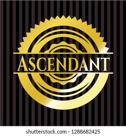 Ascendant golden emblem or badge
