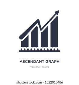 ascendant graph icon on white background. Simple element illustration from Business concept. ascendant graph sign icon symbol design.