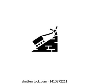 Ascending block vector isolated illustration. Ascending block icon