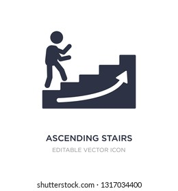 ascending stairs icon on white background. Simple element illustration from Signs concept. ascending stairs icon symbol design.
