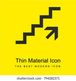 Ascending stairs signal bright yellow material minimal icon or logo design