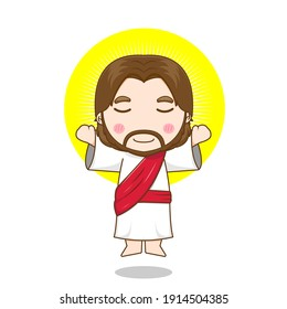 Ascension of Jesus Christ vector design illustration