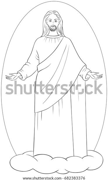 Jesus Ascension Coloring Page - Coloring Pages & Pictures ... | 620x370