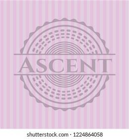 Ascent pink emblem. Vintage.