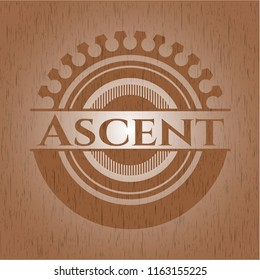 Ascent vintage wood emblem