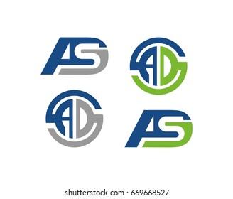 ASD letter Logo Template