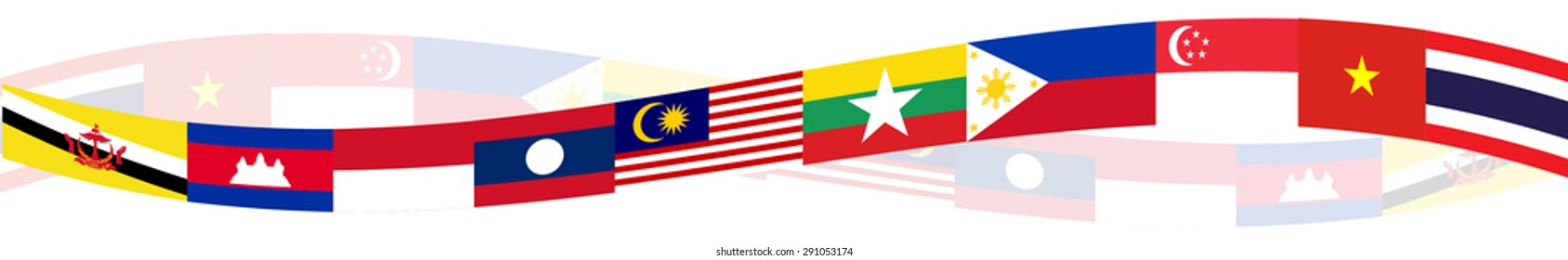 ASEAN Economic Community, AEC business forum, for design present template header background in vector