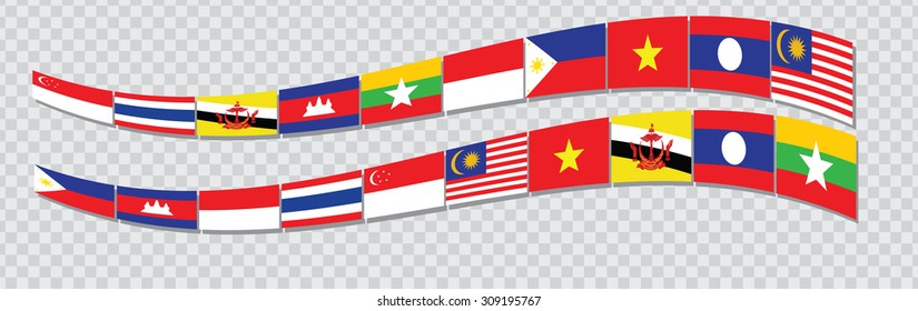 ASEAN Economic Community or AEC business forum or AFTA for design present template header, footer for background, backdrop and other. easy to modify.