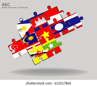 ASEAN Economic Community , AEC jigsaw concept
