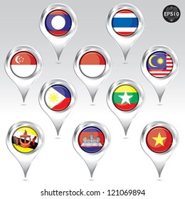 Asean Economic Community Pin, AEC, Vector