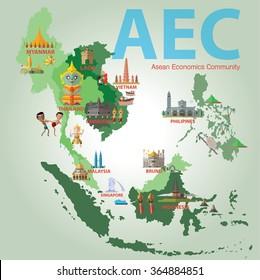Asean Economics Community (AEC) eps 10 format