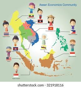 Asean Economics Community(AEC) eps 10 format
