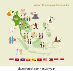 Asean Economics Community(AEC) infographic.
