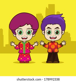 Asean Singapore cartoon eps 10 vector
