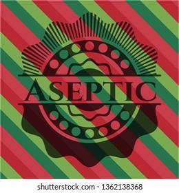 Aseptic christmas badge.