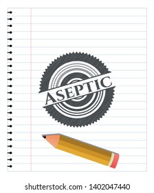 Aseptic draw (pencil strokes). Vector Illustration. Detailed.
