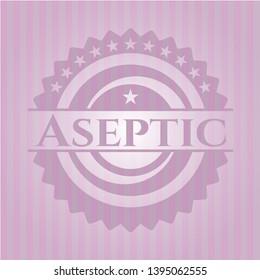 Aseptic pink emblem. Vector Illustration. Detailed.