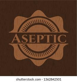 Aseptic retro style wood emblem