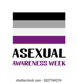 Asexual Awareness Week lettering with Intersex Pride Flag. LGBT community annual event in October. Easy to edit vector template for banners, signs, logo design, card, etc.