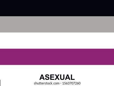 Asexual community flag, icon. LGBT symbol. Vector illustration on white background.