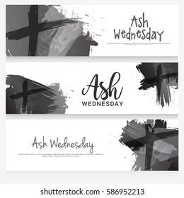 Ash Wednesday Header Or Banner Background.