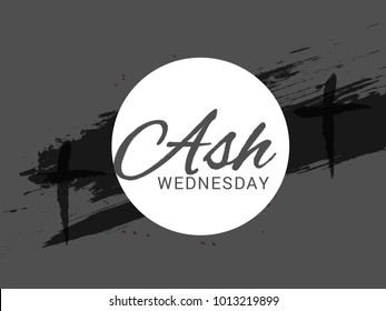 Ash Wednesday Poster Or Banner Background.