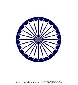 Ashok chakra vector design.