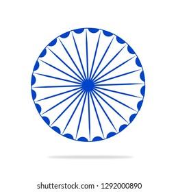 Ashok chakra vector illustration.