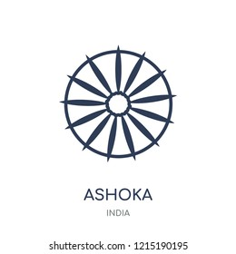 Ashoka icon. Ashoka linear symbol design from India collection. Simple outline element vector illustration on white background.