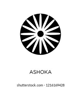 Ashoka icon. Ashoka symbol design from India collection. Simple element vector illustration on white background.