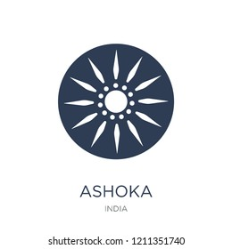 Ashoka icon. Trendy flat vector Ashoka icon on white background from india collection, vector illustration can be use for web and mobile, eps10