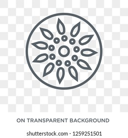 Ashoka icon. Trendy flat vector Ashoka icon on transparent background from india collection. High quality filled Ashoka symbol use for web and mobile