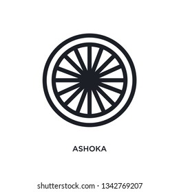 ashoka isolated icon. simple element illustration from india concept icons. ashoka editable logo sign symbol design on white background. can be use for web and mobile