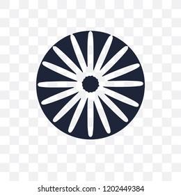 Ashoka transparent icon. Ashoka symbol design from India collection. Simple element vector illustration on transparent background.