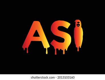 ASI Letter Logo and T shirt Design Template