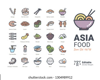 Asia Food vector icons