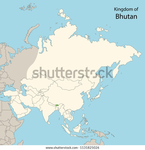 Map Of Asia Bhutan.Asia Map Bhutan Stock Vector Royalty Free 1131825026
