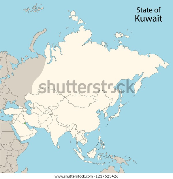 Map Of Asia Kuwait