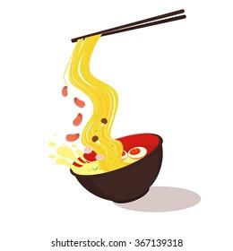asia noodle bowl food