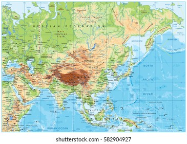 Topographic Map Asia.Topographic Map Asia Stock Vectors Images Vector Art Shutterstock