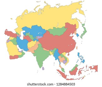 Asia - Political Map of Asia