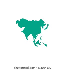 Asia Simple flat vector icon