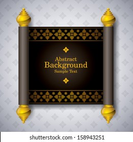 Asian Art Background, Thai art pattern vector for cover design, page design, poster, card.
