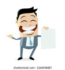 asian businessman with blank sheet