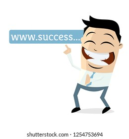 asian businessman pointing at browser address bar